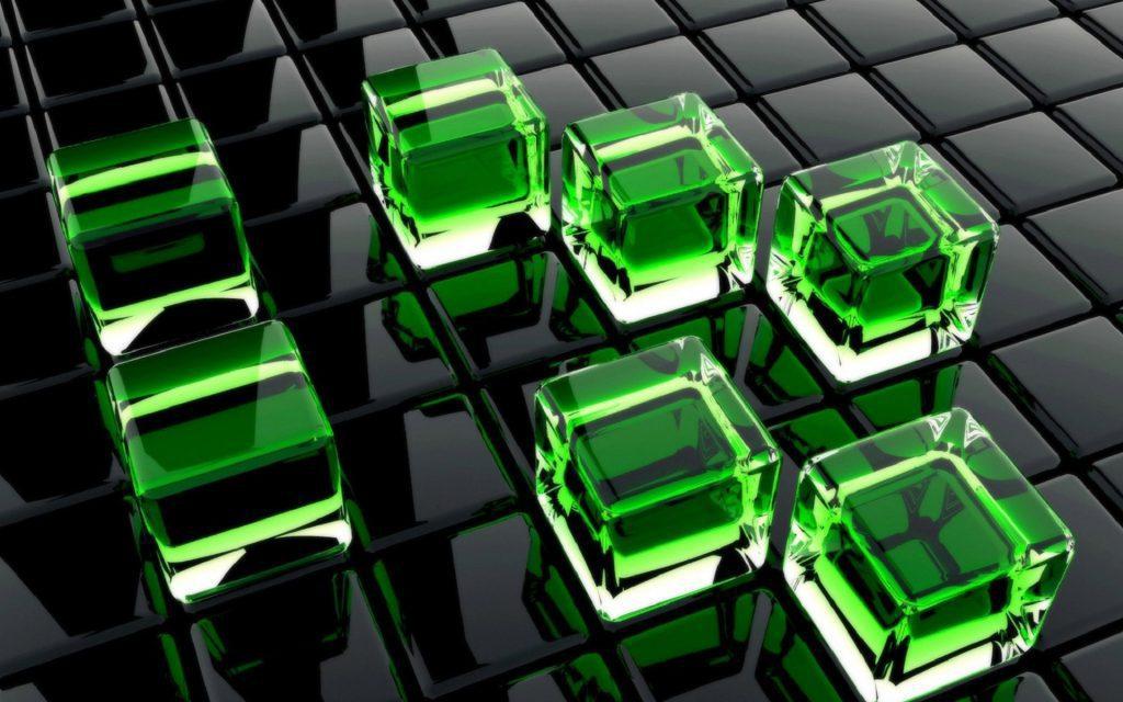 3D Cubes - wallpaper background