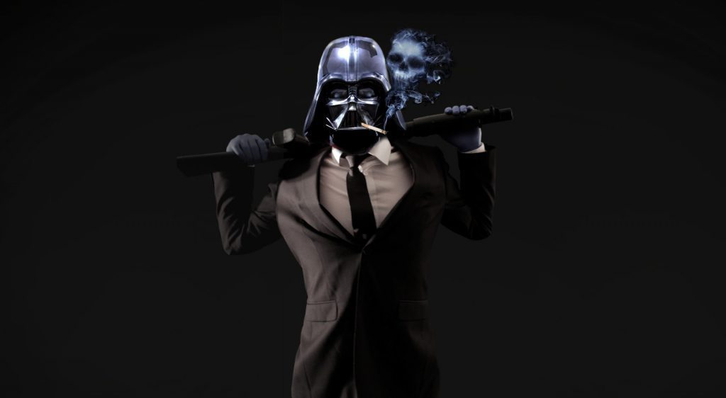 Badass Darth Vader in a suit wallpaper background