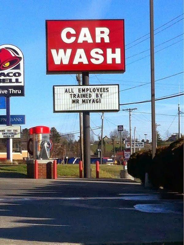 Funny Car Wash Sign - funny image