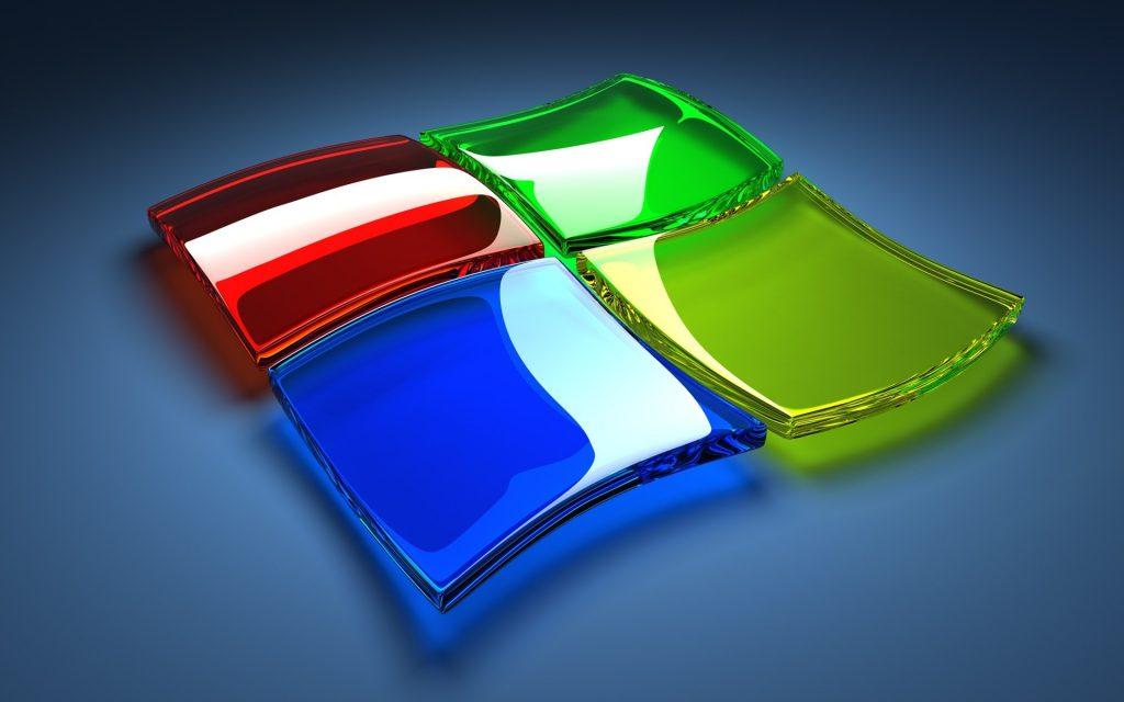 Glass Windows Logo Wallpaper