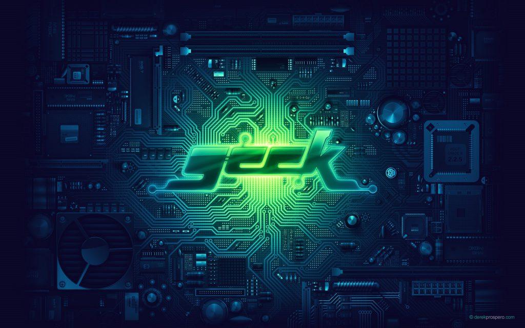 Geek Wallpaper - circuit board background