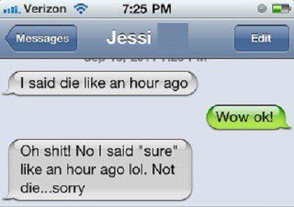 I Said Sure - Funny Text Message Fail