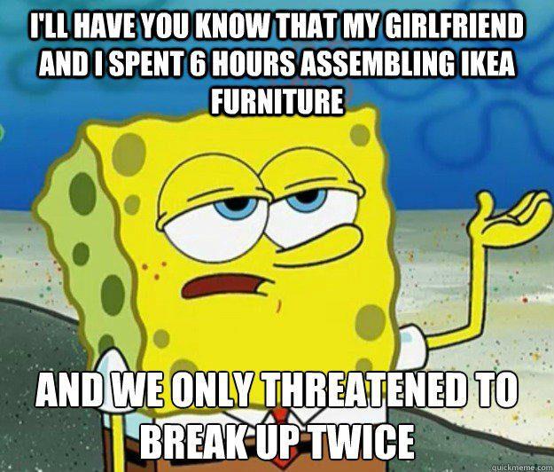Assembling Ikea Furniture - Funny Spongebob Meme