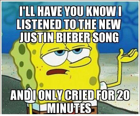 The New Justin Bieber Song - Spongebob Meme