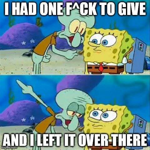 Left It Over There - Spongebob Meme