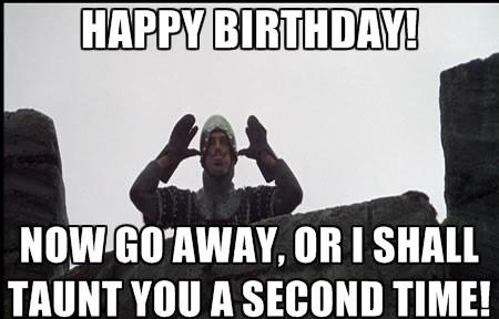 Monty Python birthday meme