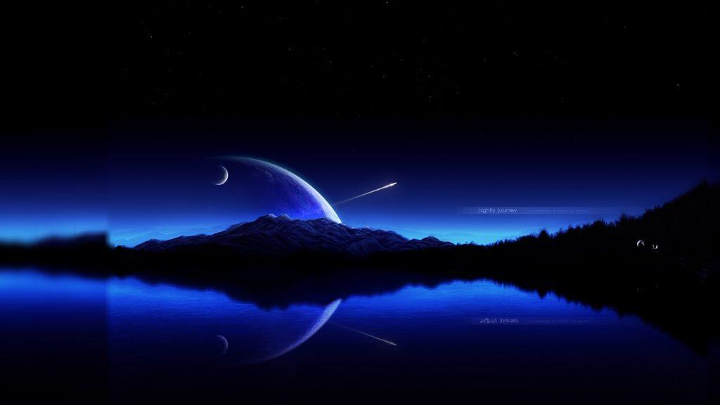Cool Night Landscape Wallpaper