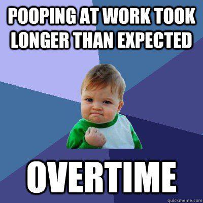 Pooping At Work - Funny Work Meme