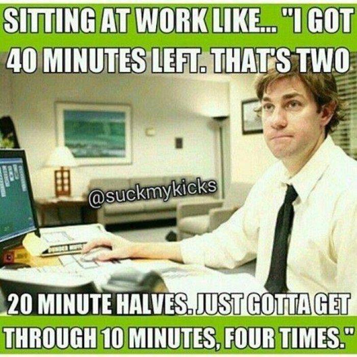 Sitting At Work Like - Funny Work Meme