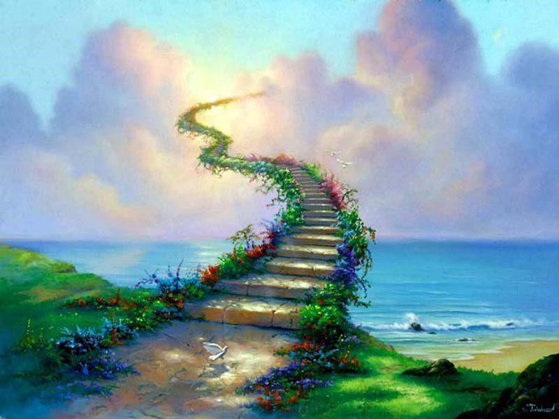 Fantasy Stairway - Cool Desktop Background