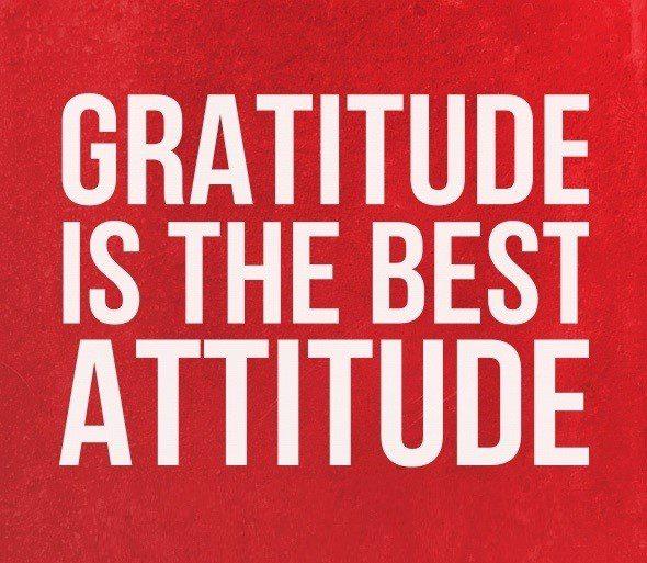Gratitude Is The Best Attitude - uplifting quote