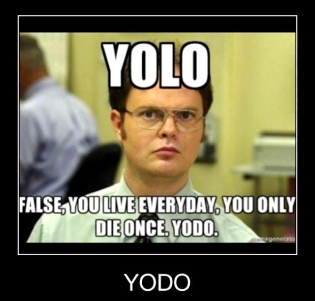 Yolo? False - Dwight Schrute Meme - The Office Meme
