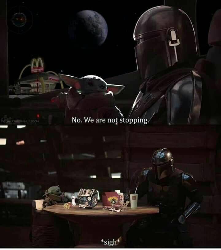 Not Stopping At McDonalds Baby Yoda Meme