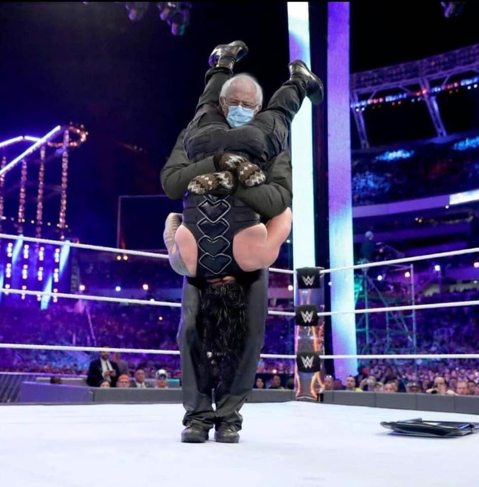 Bernie Wrestles 2