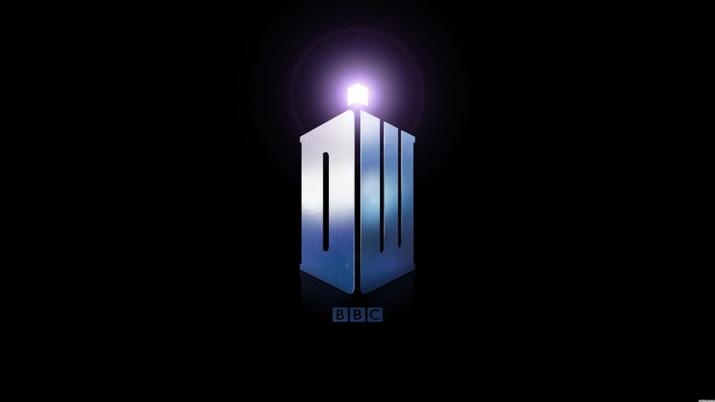 Blue And Black Doctor Who Logo wallpaper background