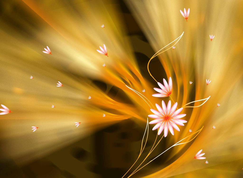 Abstract Flowers Wallpaper background