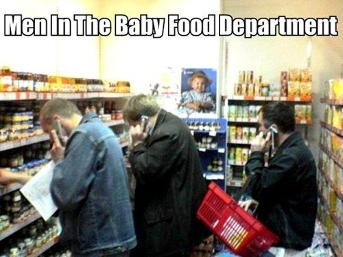 Men In The Baby Food Department - really funny picture