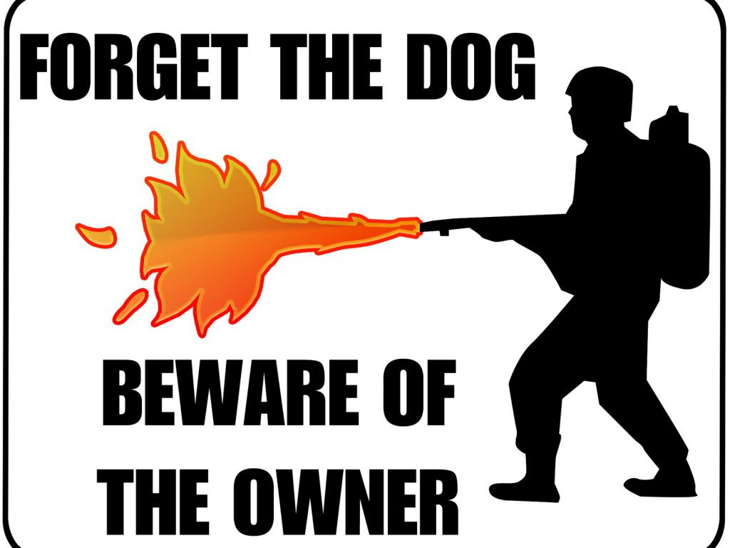 Forget The Dog, Beware Of Owner - Funny Wallpaper - Desktop Background