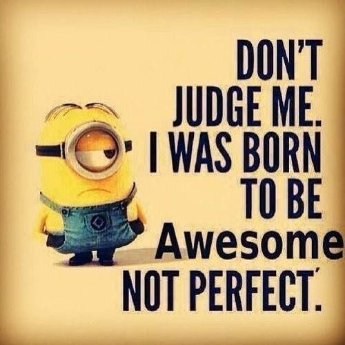 Born To Be Awesome Not Perfect - uplifting quote