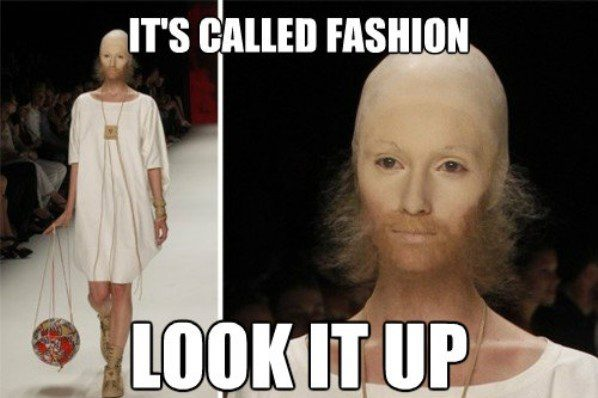 It's Called Fashion - funny photo - lady with a beard