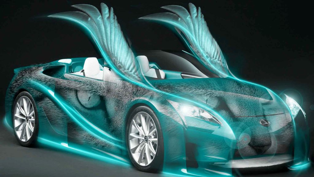 Car With Wings - Cool Desktop Background