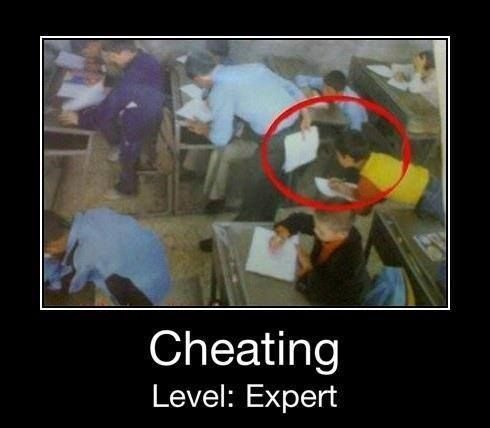 Cheating Level: Expert - Funny Image
