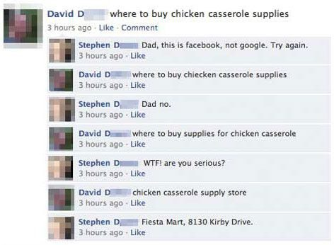 Where To Buy chicken Casserole Supplies - Funny Facebook Post