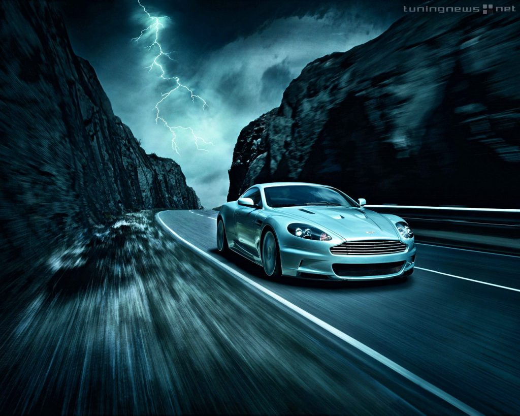 Moving Car  Mountain Road- HD Tablet Wallpaper Background