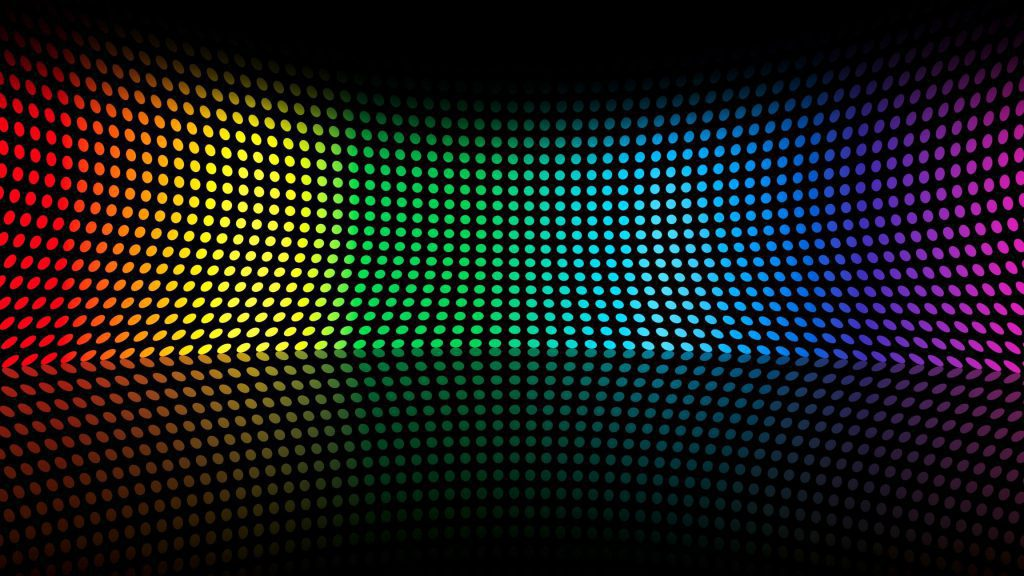 Rainbow Colored Dots wallpaper background