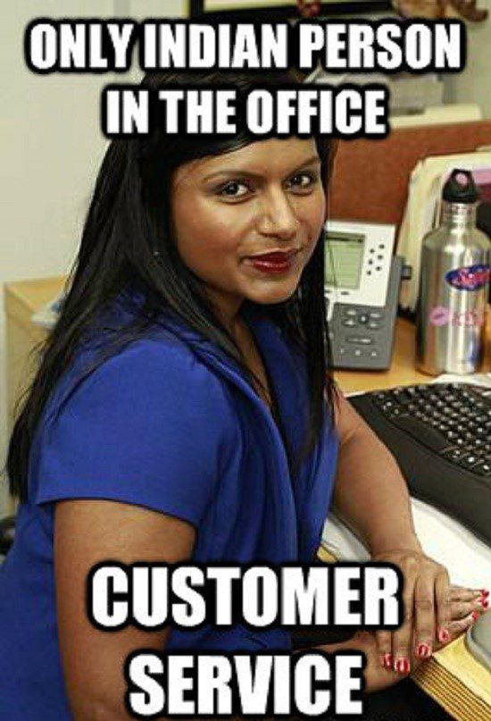 The Only Indian Person In The Office - Meme