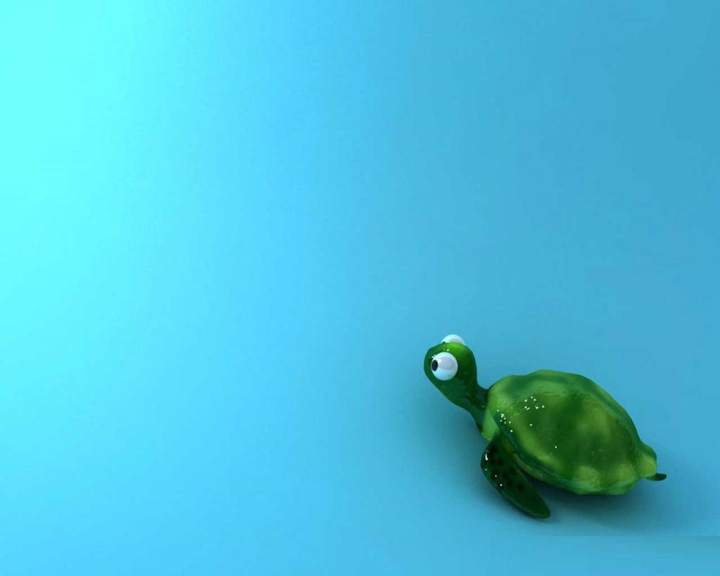 Cute Animated Turtle Wallpaper - Cute Wallpaper Background