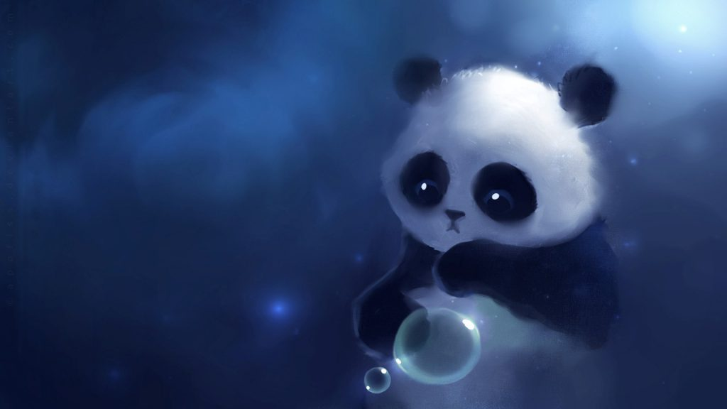 Abstract Baby Panda Wallpaper Background