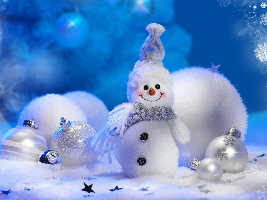 Little Christmas Snowman Wallpaper Background