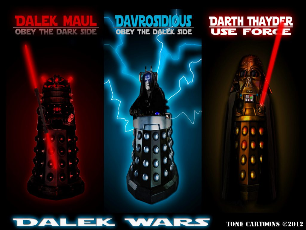 Star Wars And Dr. Who Clash - Dalek Wars - Wallpaper Background