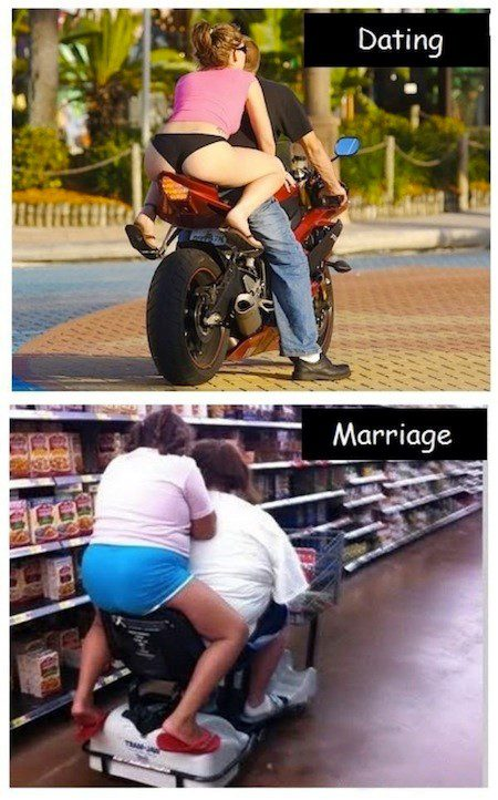 Dating Vs. Marriage - relationship meme