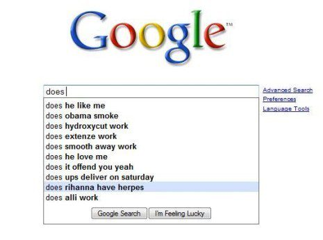 Does - Funny Google Search Suggestion