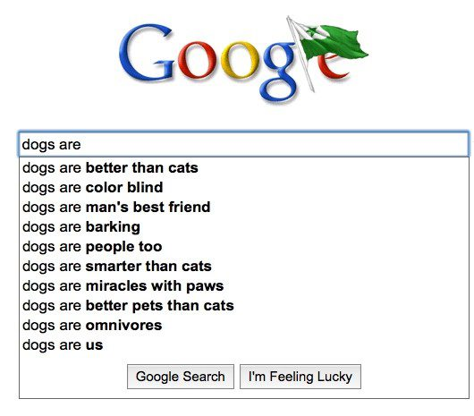 Dogs Are - Funny Google Search Suggestion