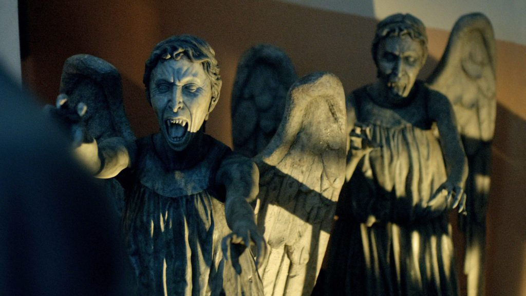 Don't Blink - Weeping Angels Wallpaper - background - dr. who tv show