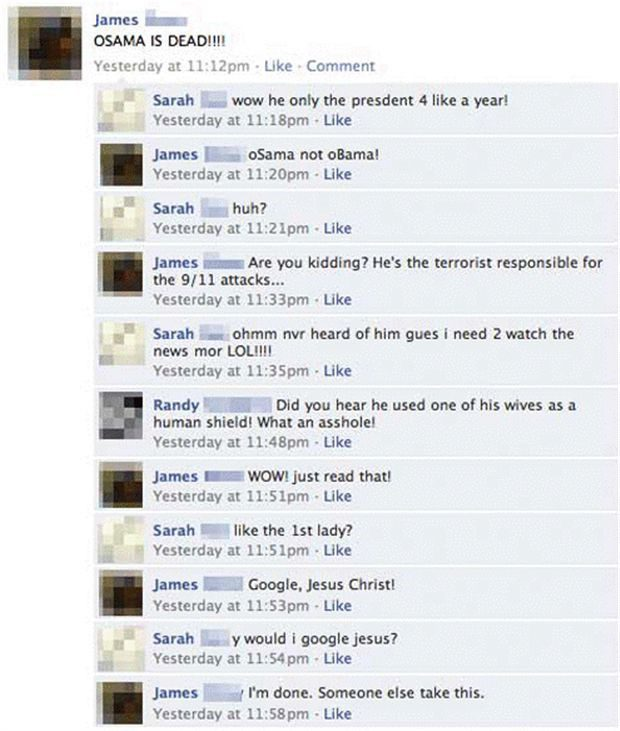Osama Is Dead - Funny Facebook Post