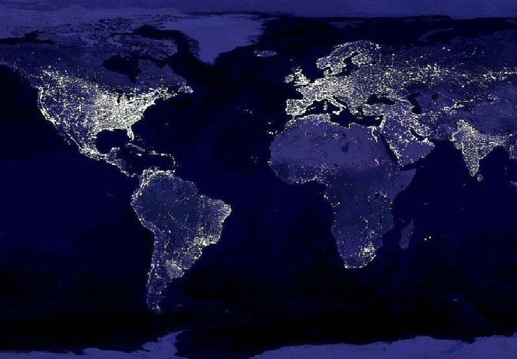 Earth At Night - cool desktop background
