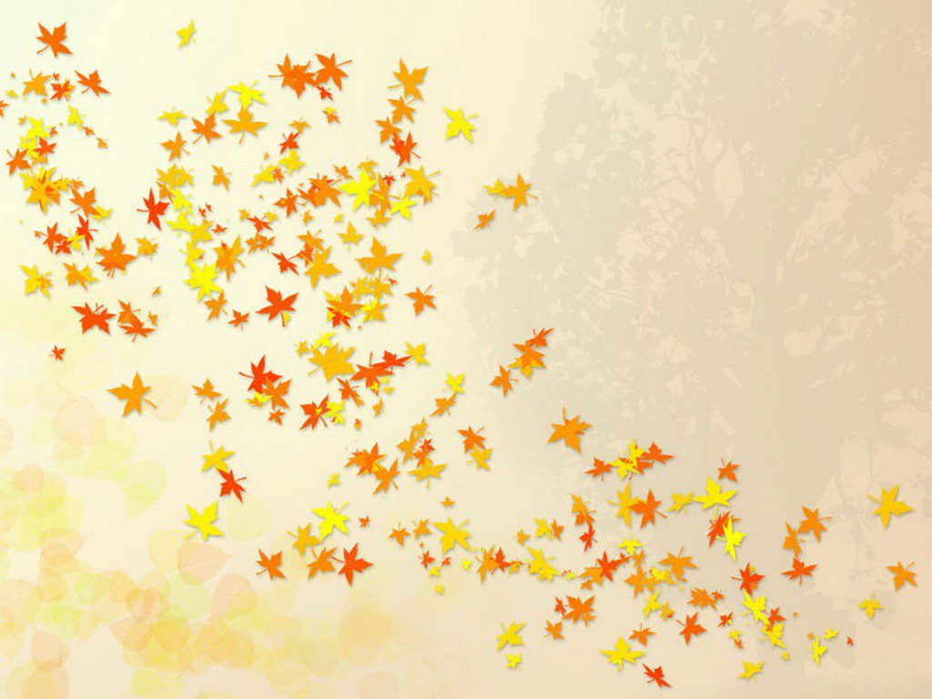 Blowing Leaves - Cute Wallpaper