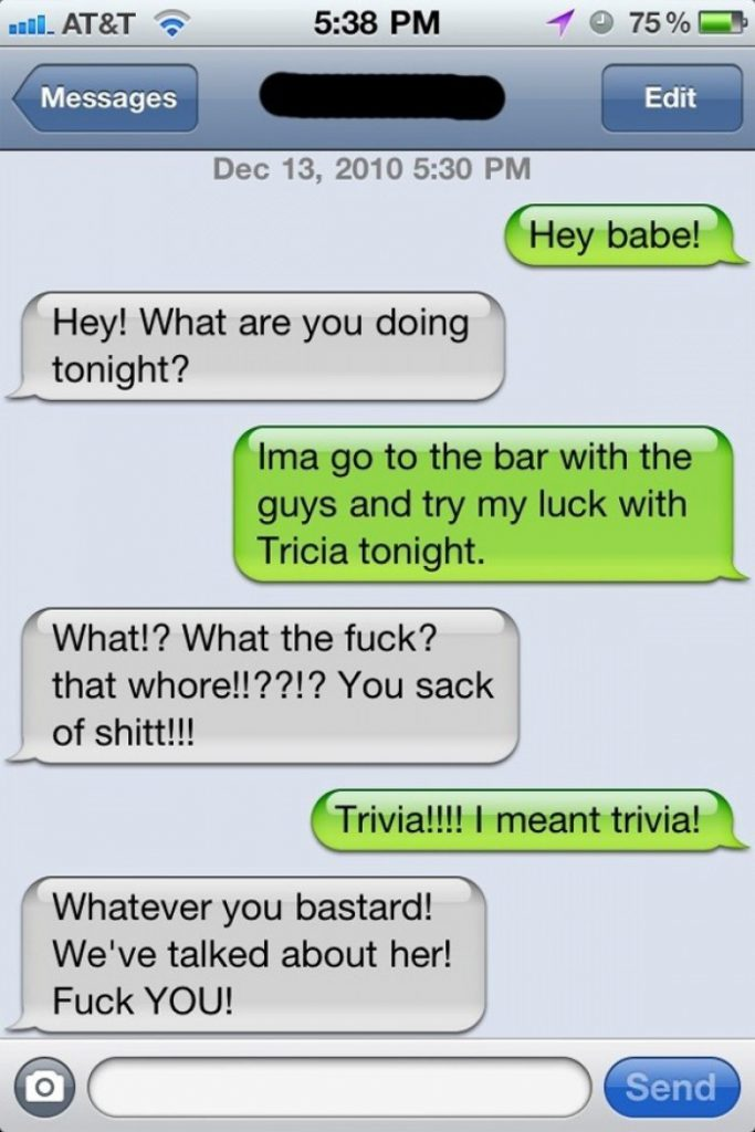 Try My Luck With Trivia - Funny Text Message Fail