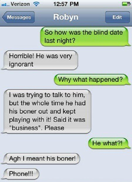 How Was Your Blind Date? - funny sms fail