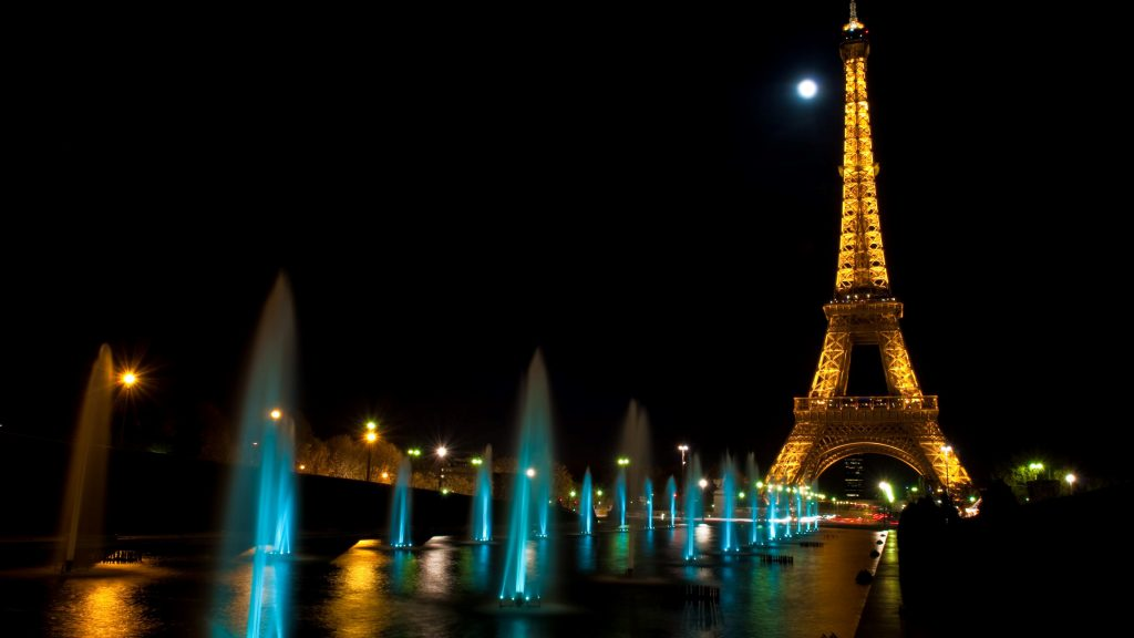 Eiffel Tower At Night - wallpaper background