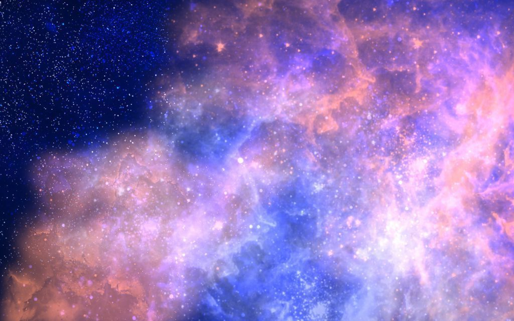 Amazing Pink and Blue Nebula - Ultra HD Wallpaper Background