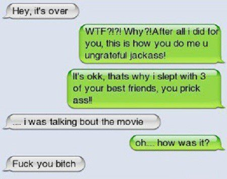 Hey, It's Over. - Funny SMS Fail