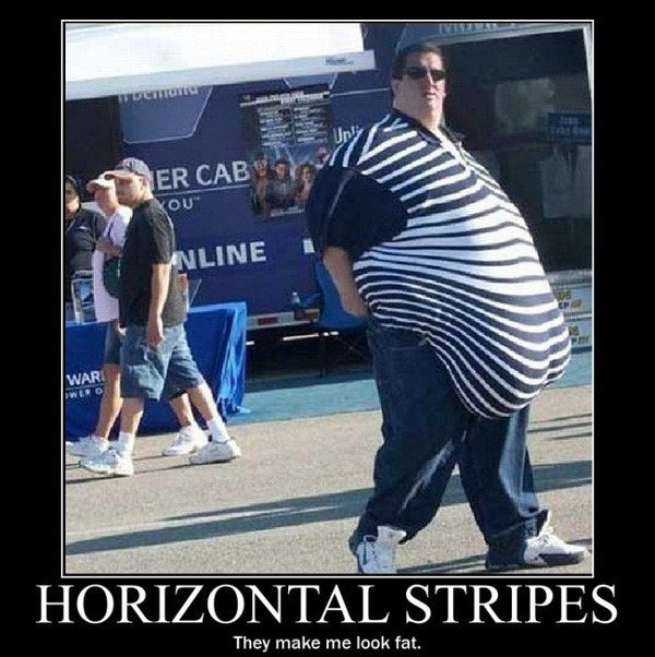 Horizontal Stripes - Hilarious Caption Photos