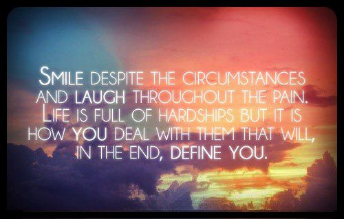 Smile And Laugh - uplifting quote