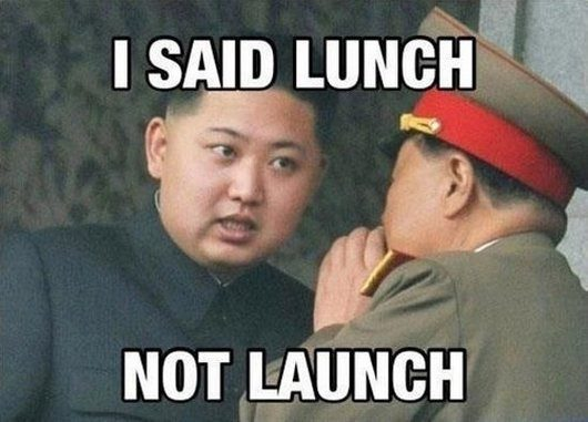 I Said Lunch, Not Launch - Funny Image Meme