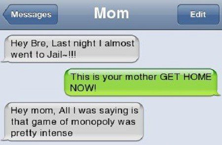 That Game Of Monopoly - Funny Fail Text Message Fail